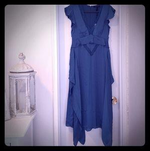 BCBGMax Azaria ruffle sleeve dress